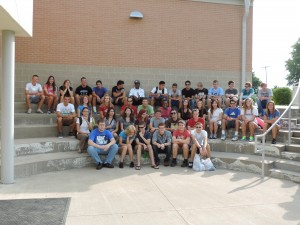 SCA senior class gathers together before leaving for Moore, Oklahoma for senior mission trip
