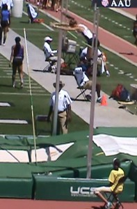 "Queen clears 10'6"" on Pole Vault at AAU"