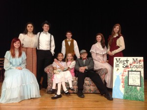 Cast from Meet Me in St. Louis!