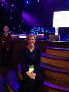 Mrs. Angy Bounds at the Grand Ole Opry, Nashville, Tennessee