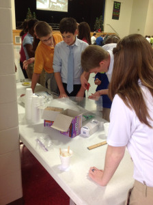 SCA 6th graders collaborate to build space capsule