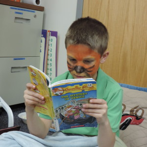 SCA third grade student Owen Stienstra dressed as everyone's favorite literary mouse Geronimo Stilton at SCA's annual Elementary D.E.A.R. day.