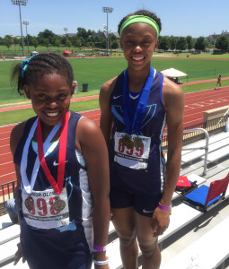 SCA 6th and 9th graders Larra and Lenetta Lee qualify to compete at the USA Track & Field Junior Olympics in Jacksonville, FL.