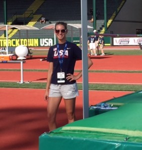 SCA Junior Carlie Queen takes 8th at the Outdoor Junior National Championship in Track Town USA in Oregon.