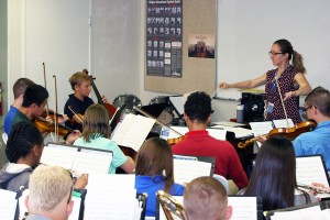 For the first time ever, SCA offers Symphonic Orchestra for 6-12 grades, conducted by Michelle Nagy.