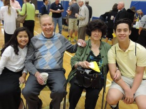 This year, SCA Grandparents Dr. Harold and Mrs. Peggy Finch attended their 23rd Grandparents' Day at SCA with their seventh grade granddaughter Aliya Finch and Junior William Finch. They also visited and prepared a craft with their Kindergarten granddaughter Sophia Ruiz.
