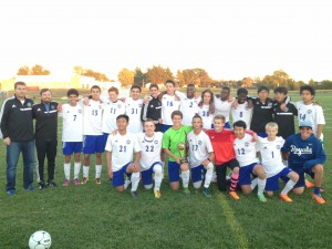 SCA varsity soccer team defeats St. Paul Lutheran in a 4-1 victory to win SCA Cup championship for the first time.