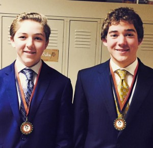 SCA policy debate duo Connor & Corbin Healy placed first of 22 teams in the Platte County High School Debate Tournament