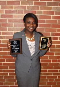 SCA Junior Courtney Price-Dukes recently took first place at the National Speech and Debate Association District tournament.  She is next headed to the NSDA National Tournament being held in Salt Lake City this summer.