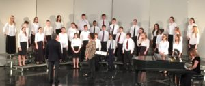 The Summit Christian Academy Jr. High Choir received top ratings at their performances last weekend, including this one at the Midwest Christian Schools Academic Meet and Fine Arts Festival.