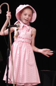 Little Bo Peep, performed by Ella Eveler, is not only looking for her sheep but is also searching for some kindness and compassion as SCA's Camp Eagle Summit presents Lemonade!  A Musical for Young Singers on the stage at Summit Christian Academy (1450 SW Jefferson) at 10:30 a.m. and 6 p.m. on Tuesday, July 12.