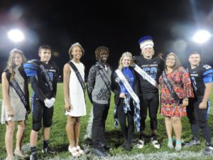 Pictured here are the SCA 2016 Homecoming King and Queen and Homecoming court class winners: 9th grade students Rylee Lunn and Gage Brown, 10th grade students Lenetta Lee and Isaiah Vigliano, Homecoming Queen senior Hannah Teilborg and Homecoming King senior Ethan Lind, and 11th grade students Alley Brown and Michael Werner.