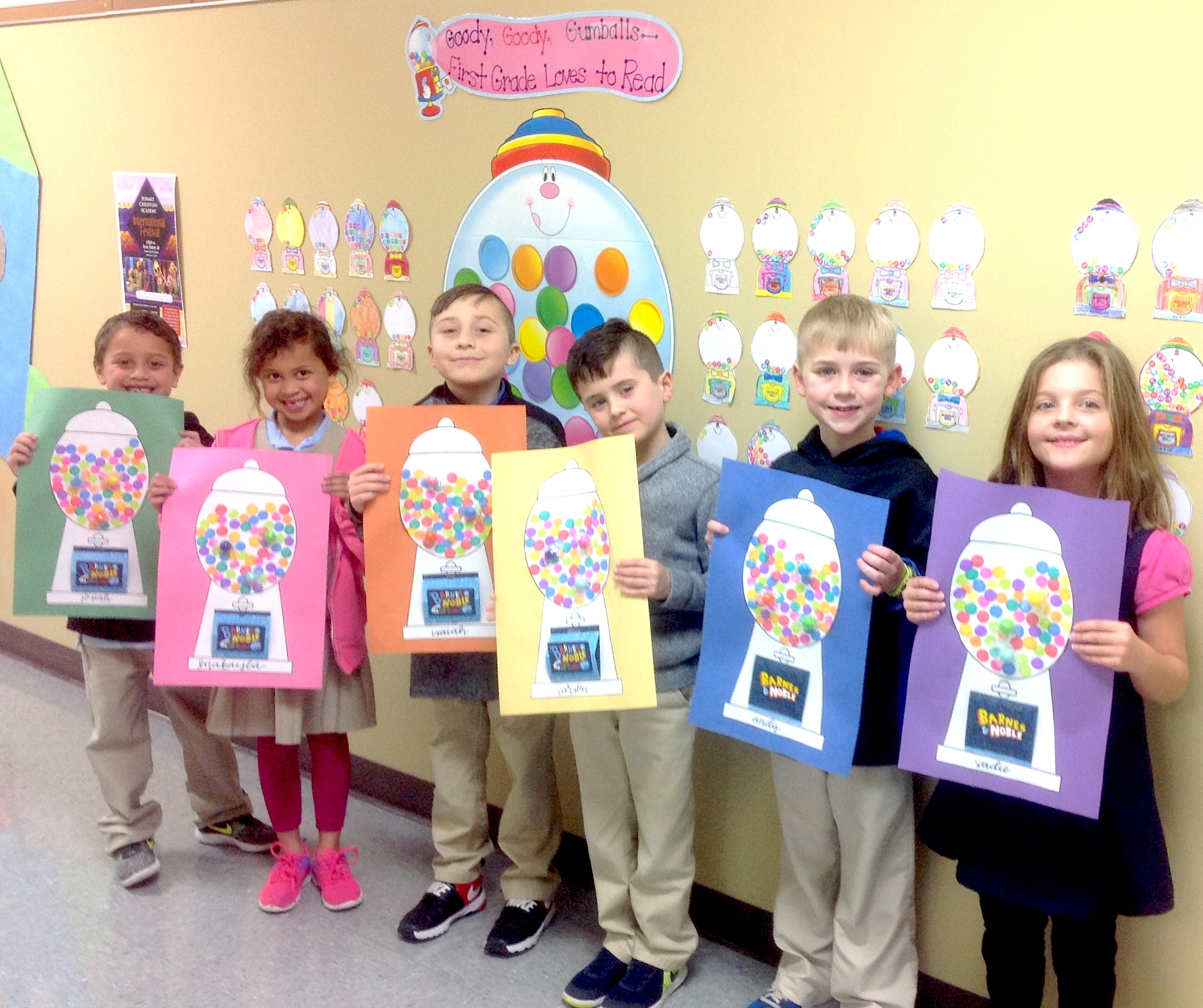 SCA Blog » SCA First Graders Complete Goody Goody Gumball