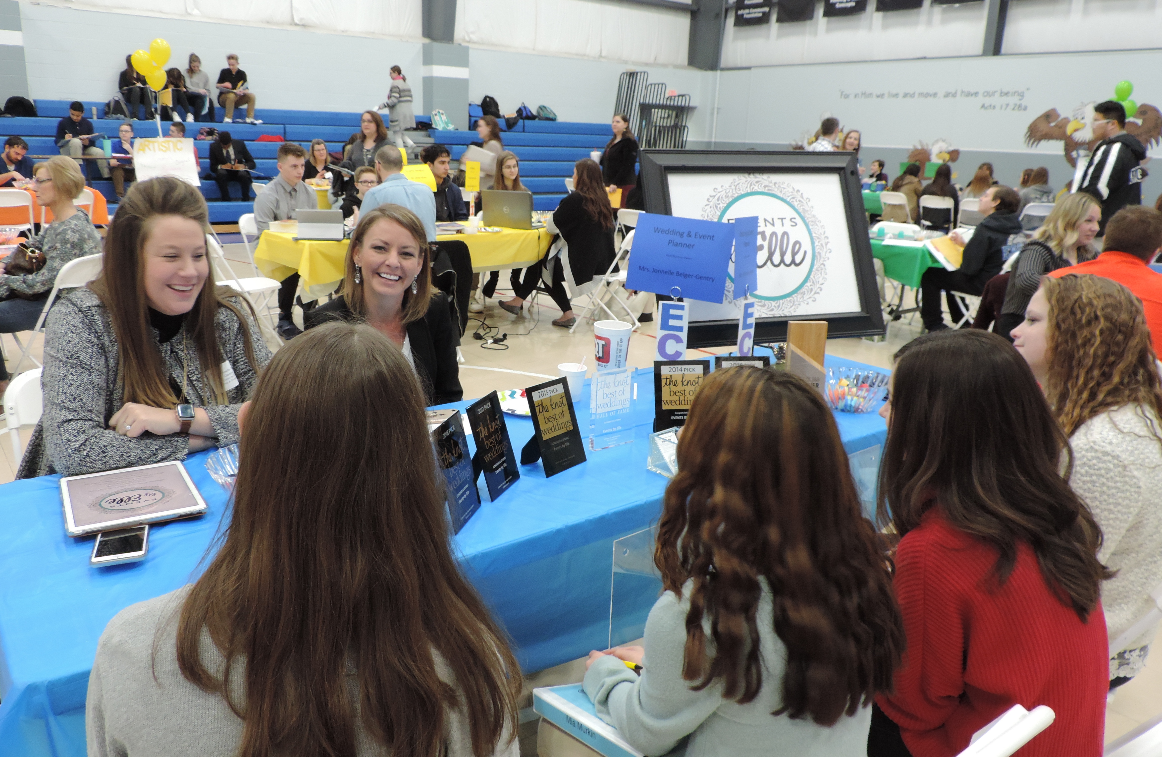 SCA Students Had The Opportunity To Interview Wedding Event Planner Jonnelle Belger Gentry Of Events By Elle At Schools Second Annual Career Fair